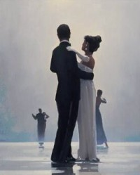 Painitng, 'Dance me to the end of love', by Jack Vettriano